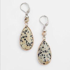 Dalmatian Stone Drop Earrings